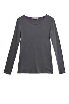 Femme Grey Long-Sleeve Top - Product List Image