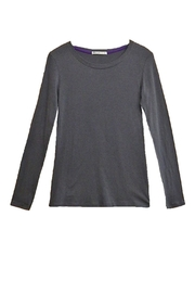 Femme Grey Long-Sleeve Top - Product Mini Image