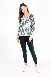 Six Fifty Grey Marble Wash Hoodie - Front full body