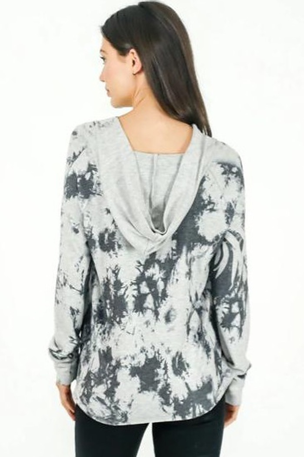 Six Fifty Grey Marble Wash Hoodie - Side Cropped Image