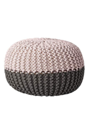 The Birds Nest GREY/NUDE POUF - Front full body