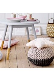 The Birds Nest GREY/NUDE POUF - Product Mini Image
