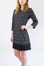Isle Grey Patterned Dress - Front full body