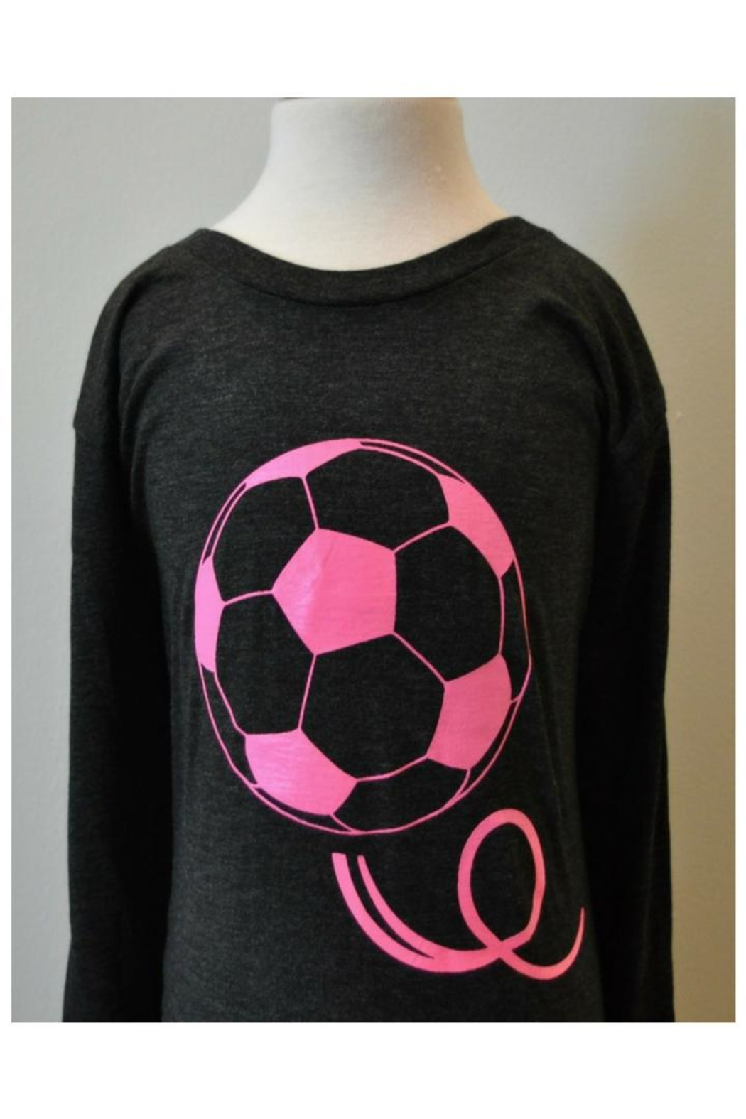Canvas Grey/pink Soccer T-Shirt - Main Image