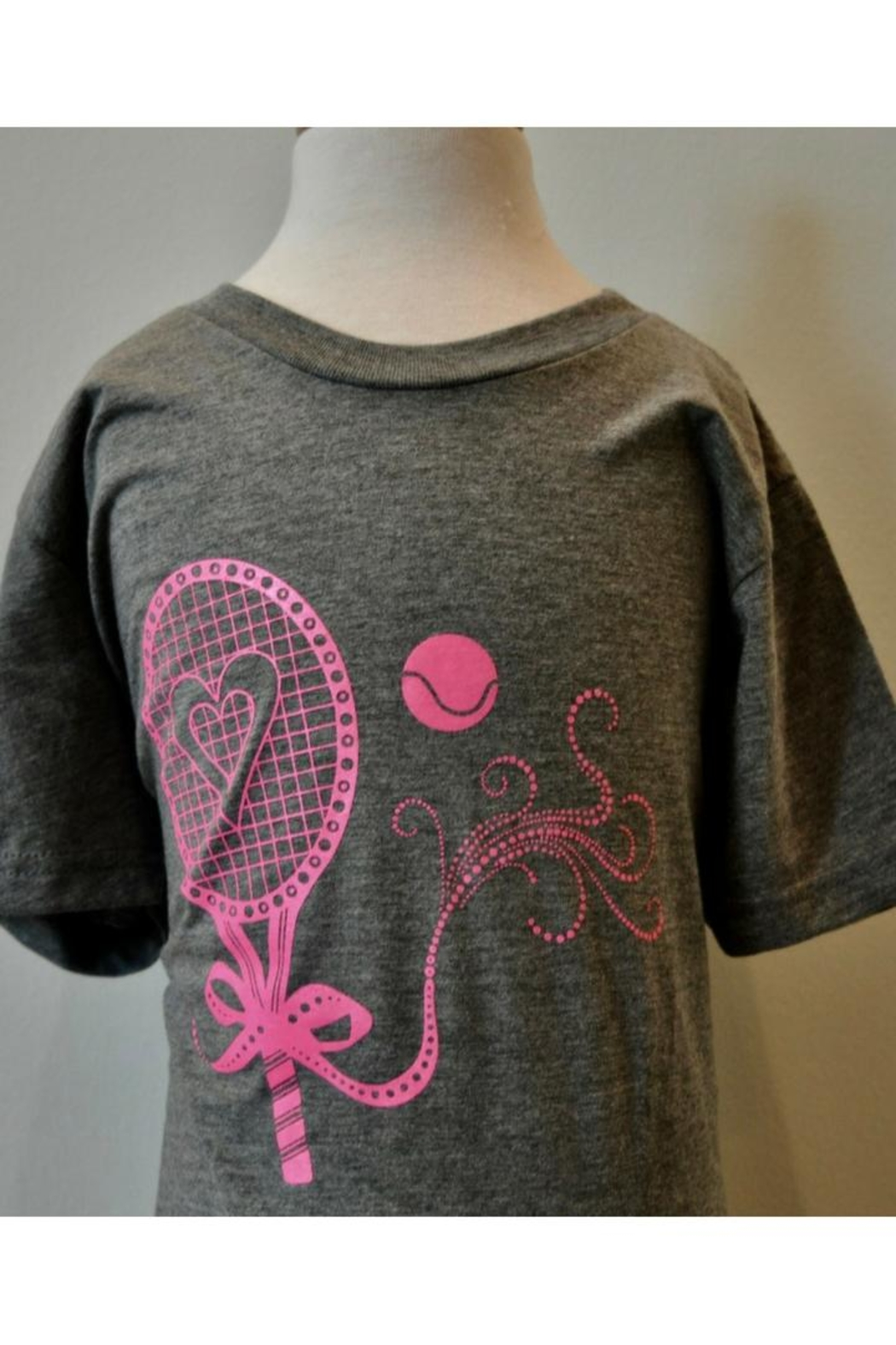 Canvas Grey/pink Tennis T-Shirt - Main Image