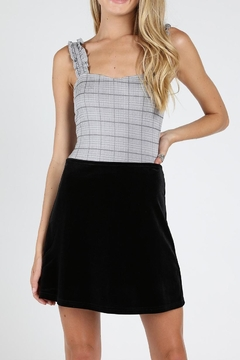 Shoptiques Product: Grey Plaid Bodysuit