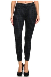 C Mode Grey Plaid Pants - Front cropped