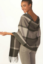 Gift Craft Grey Plaid Scarf - Front full body