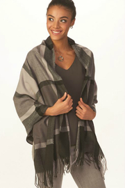 Gift Craft Grey Plaid Scarf - Product Mini Image