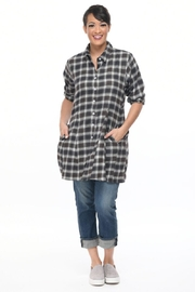 Tulip Grey Plaid Tunic - Product Mini Image