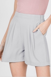 Racheal Grey Pleated Shorts - Product Mini Image