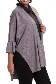 Bali Corp. Grey Poncho Cape Sweater - Product Mini Image