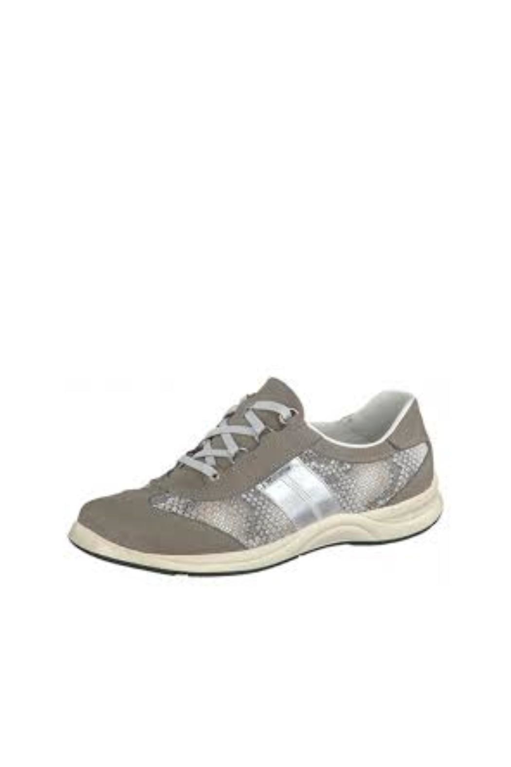 Mephisto Grey Print Sneaker - Front Cropped Image