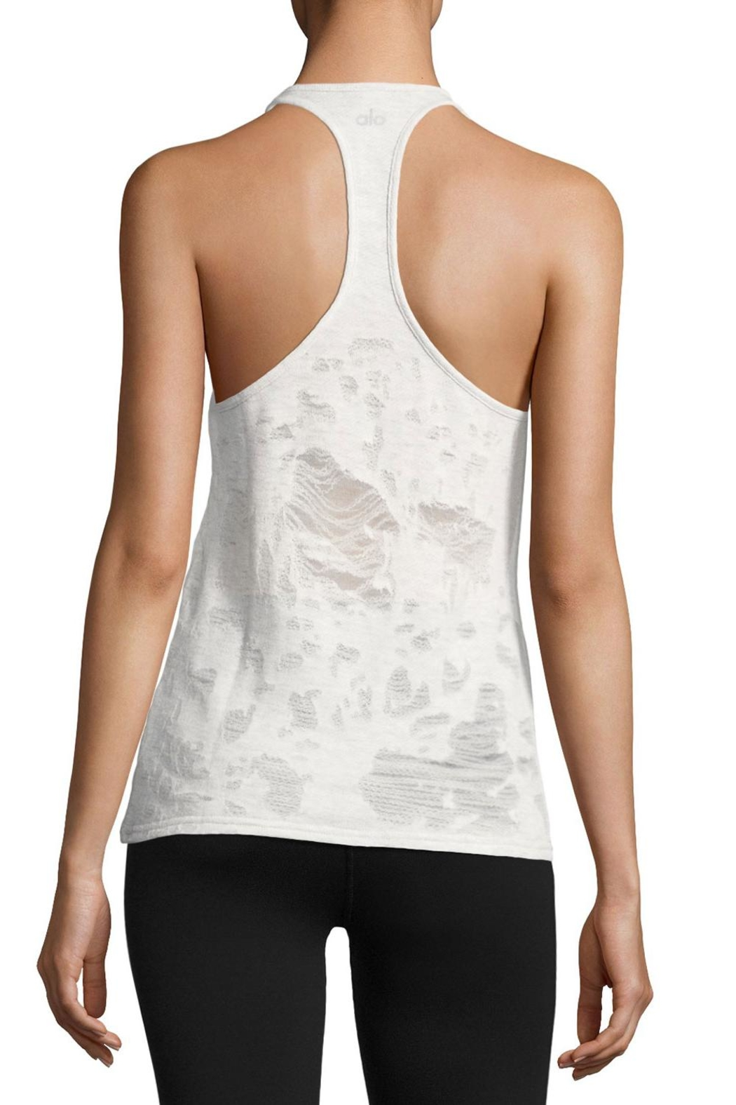ALO Yoga Grey Pure Tank - Front Full Image