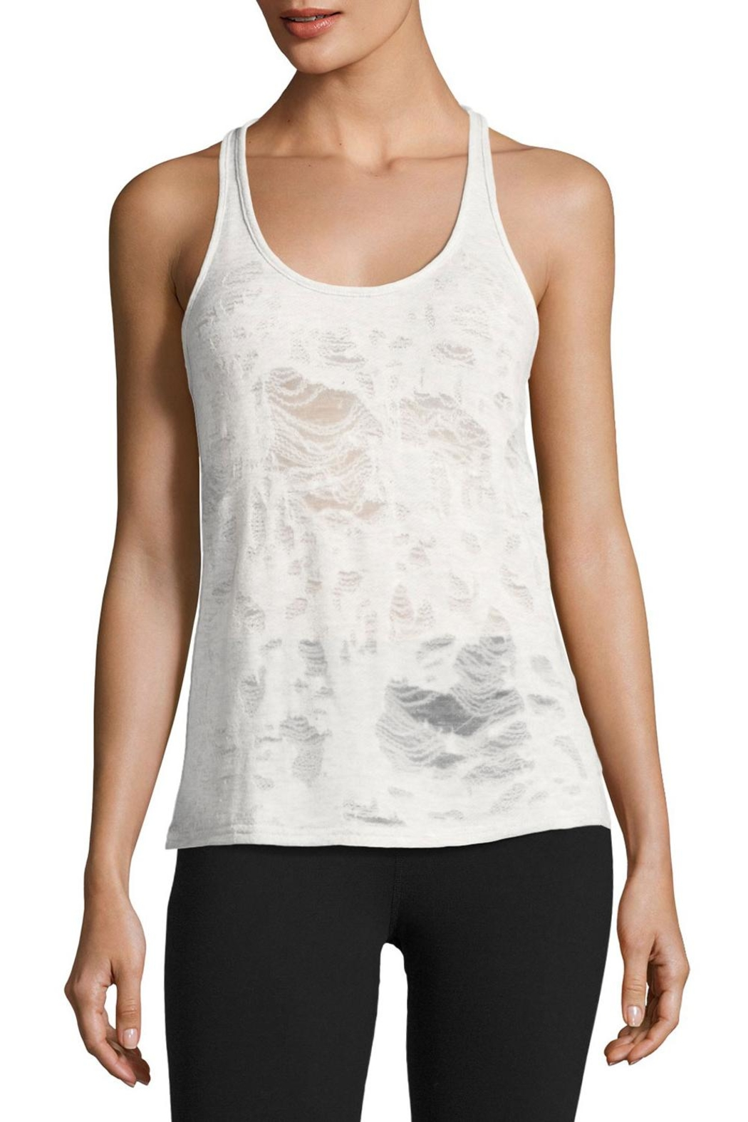 ALO Yoga Grey Pure Tank - Front Cropped Image