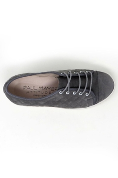 Paul Mayer Grey Quilted Sneakers - Alternate List Image