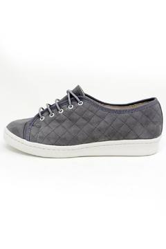 Paul Mayer Grey Quilted Sneakers - Product List Image