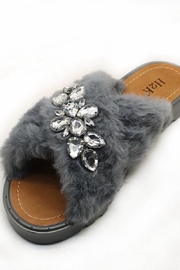 H2K Grey Rhinestone Slide - Product Mini Image