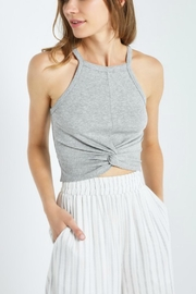 Soprano Grey Ribbed Cropped - Front cropped