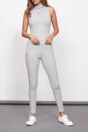 MINKPINK Grey Ribbed Leggings - Front cropped
