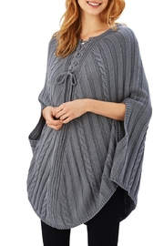 2 Chic Grey Ribbed Poncho - Product Mini Image