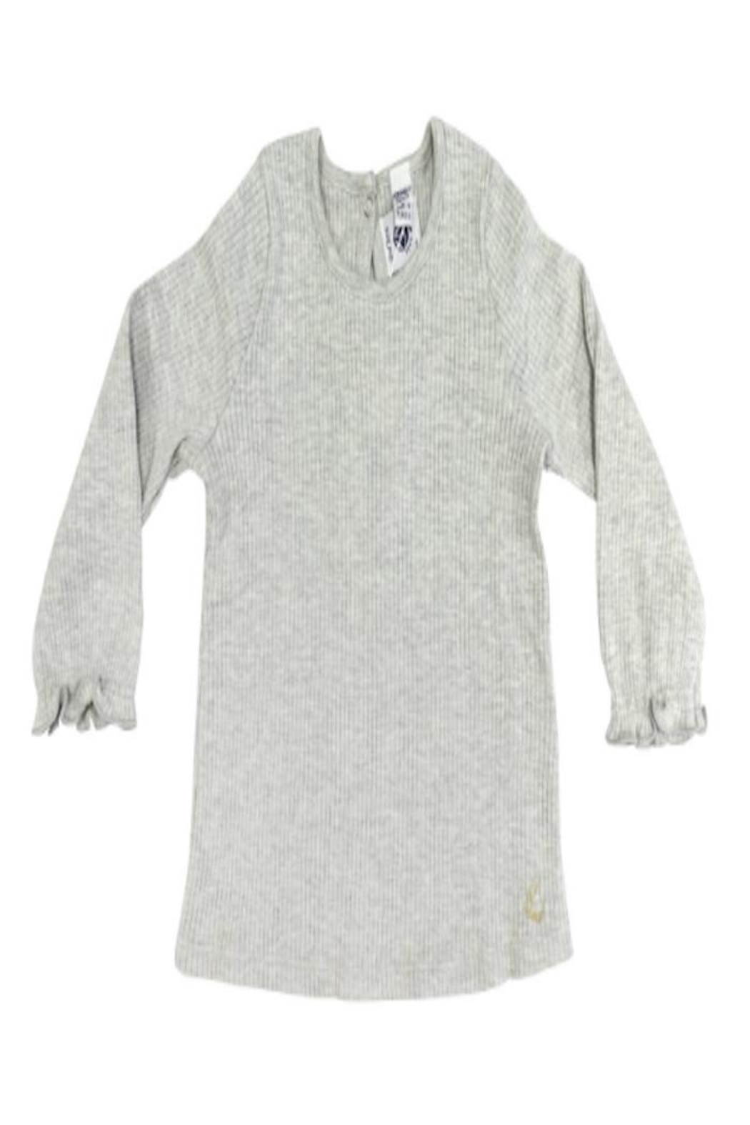 Petit Bateau Grey Ribbed Shirt - Front Cropped Image