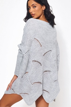 Urban Touch Grey Ribbedsleeve Jumper - Alternate List Image