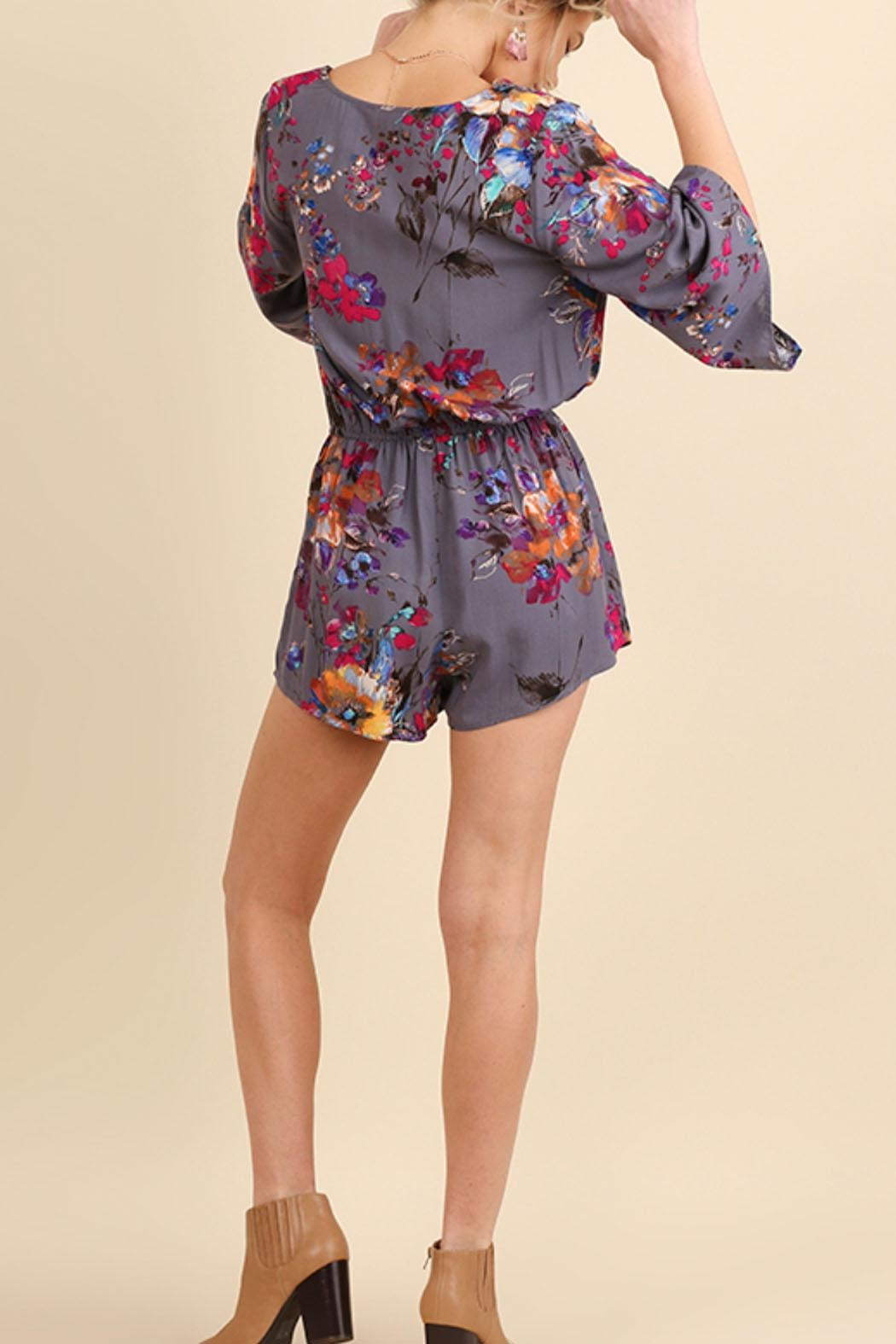 Umgee USA Grey Romper - Front Full Image