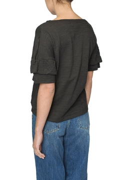 4our Dreamers Grey Ruffle Tee - Alternate List Image