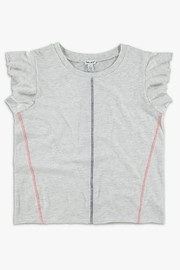 Splendid Grey Ruffle Top - Product Mini Image
