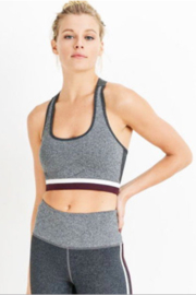 Mono B Show grey shades colorblock racerback bra - Product Mini Image