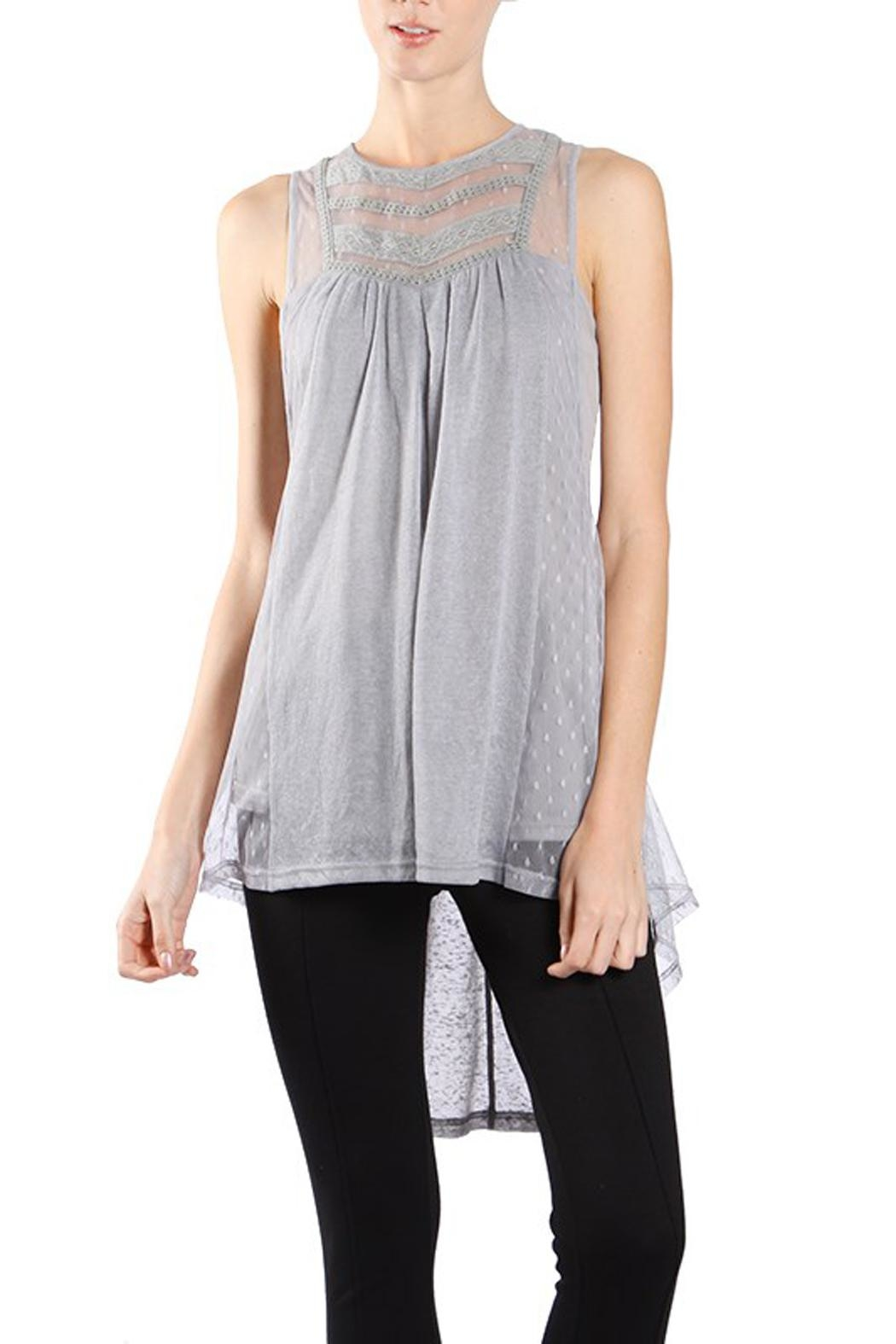 1503ae9f226d86 The Vintage Valet Grey Sheer Tanktop from Pittsburgh — Shoptiques