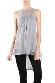 The Vintage Valet Grey Sheer Tanktop - Product Mini Image