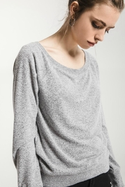 Zsupply Grey Shoulder Sweater - Product Mini Image
