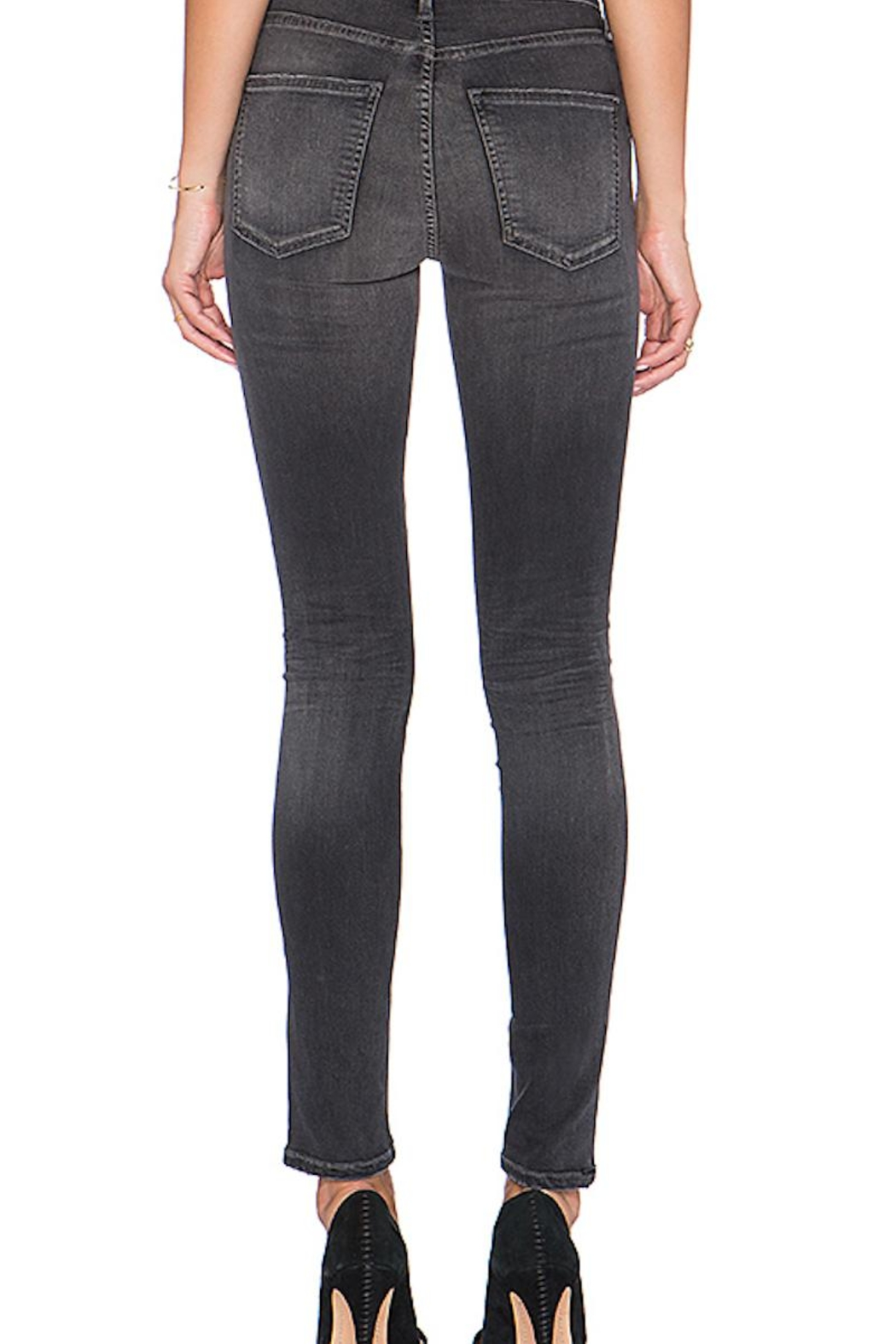 Citizens of Humanity Grey Skinny Jeans - Side Cropped Image