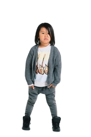 Rock Your Baby Grey Slouch Cardigan - Side cropped