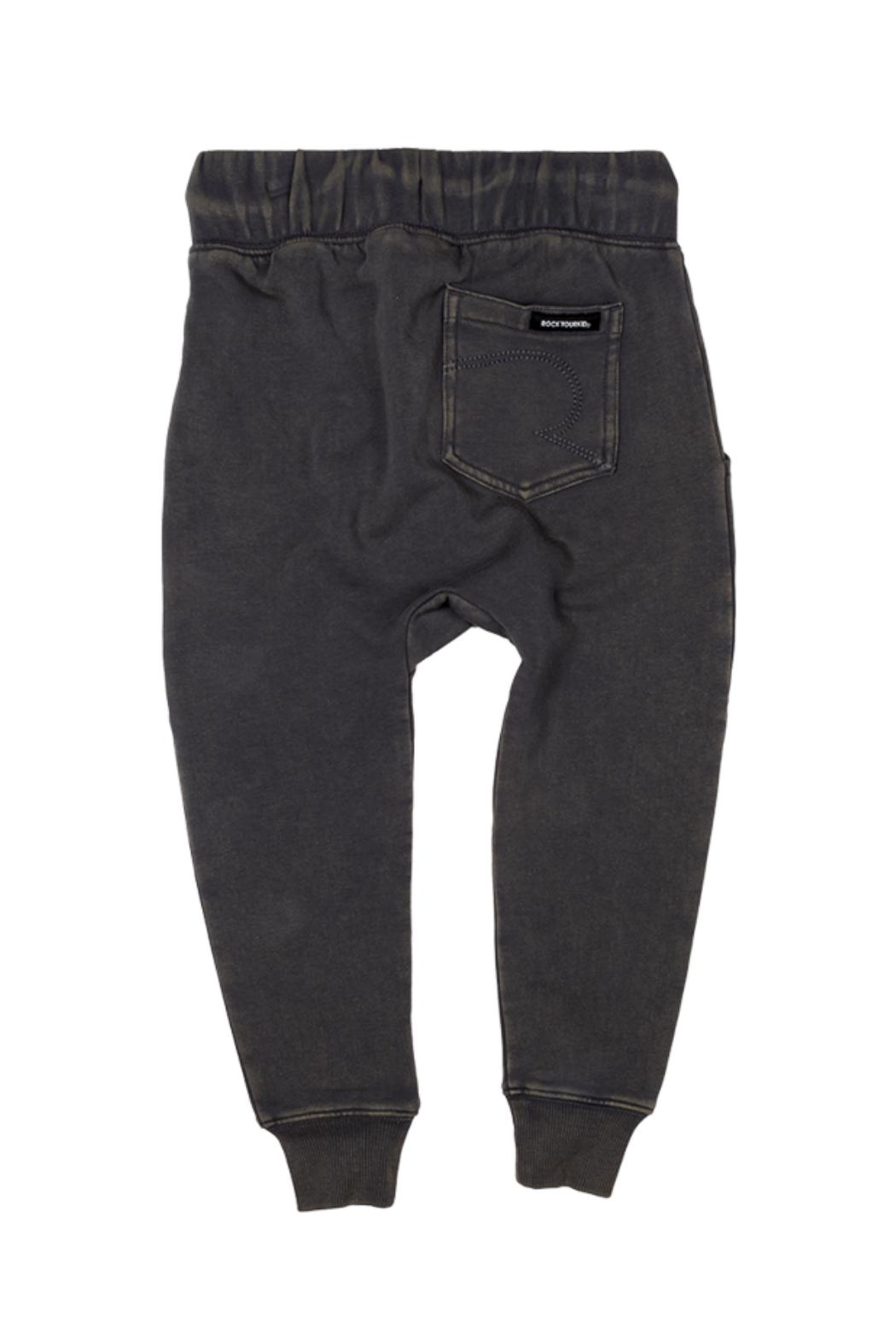 Rock Your Baby Grey Slouch Trousers - Front Full Image