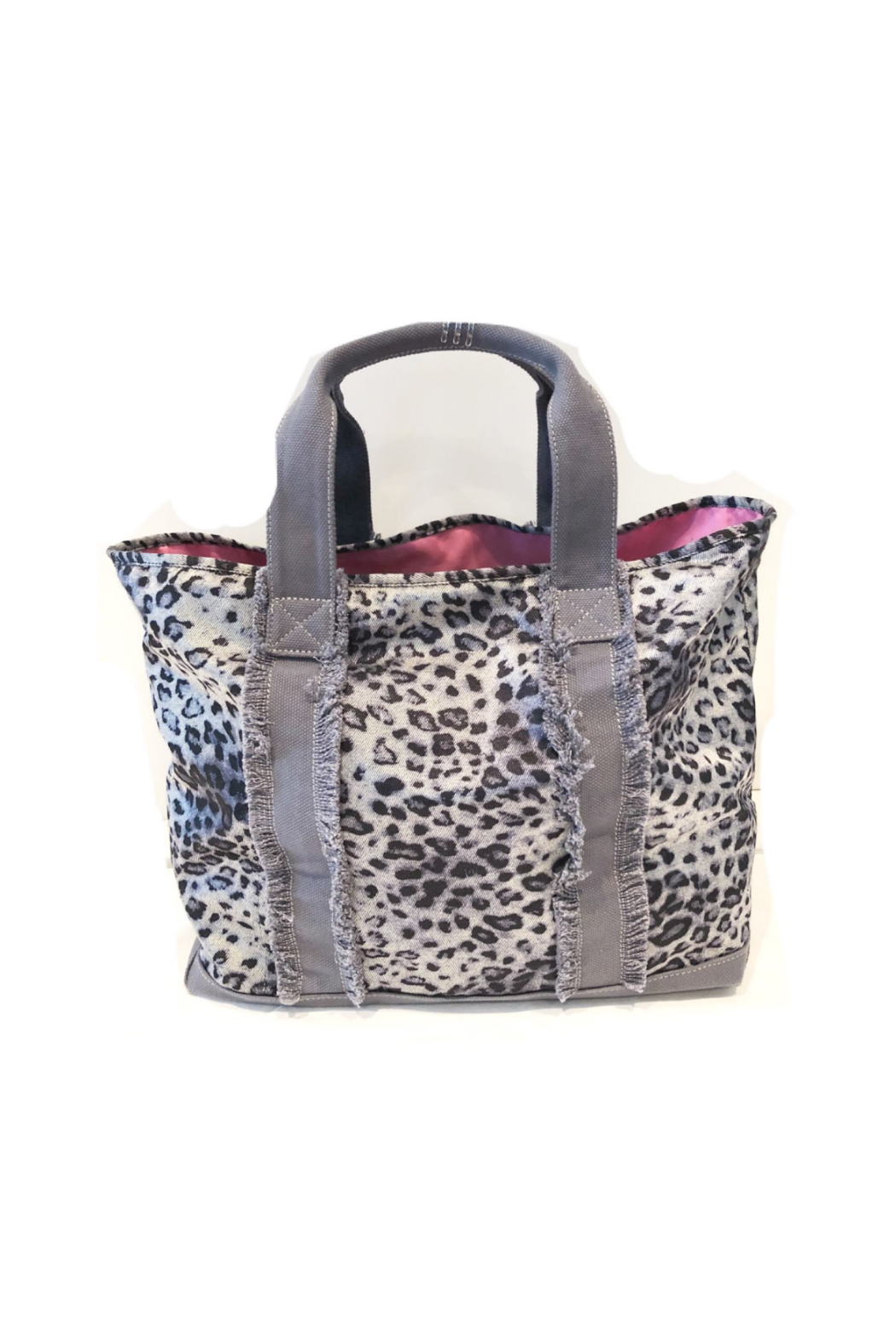 Equipt4U Grey Snow Leopard Tote (Pink Lining) - Main Image