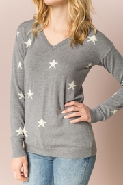 Hem & Thread Grey Star Sweater - Product Mini Image
