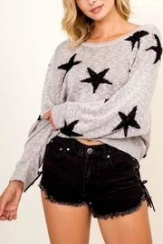 Olivaceous Grey Star Sweater - Product Mini Image