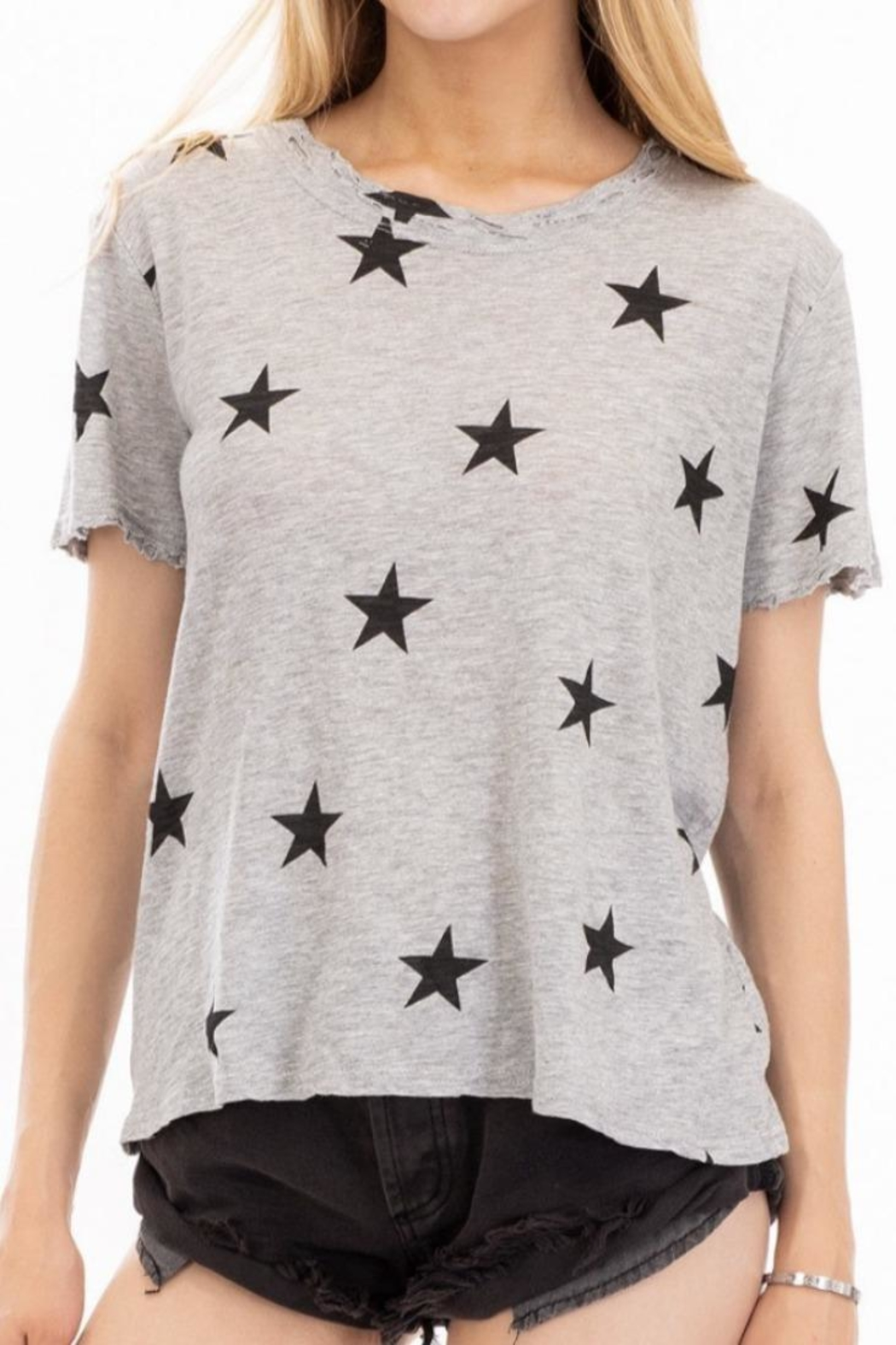 Olivaceous Grey Star Tee - Main Image