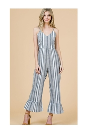 Polly & Esther Grey Stripe Jumpsuit - Product Mini Image