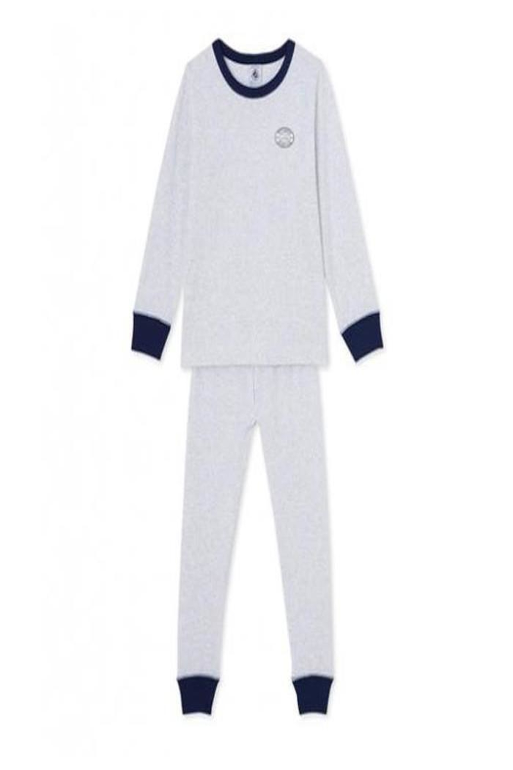 Petit Bateau Grey Striped Pajamas - Main Image