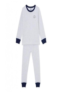 Shoptiques Product: Grey Striped Pajamas