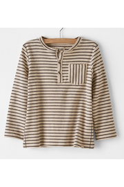 Me & Henry Grey Striped Stretch Jersey Shirt - Front cropped