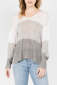 Shoptiques Product: Grey Striped Sweater