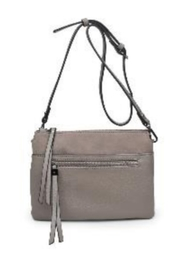 Street Level Grey Suede Crossbody - Product Mini Image