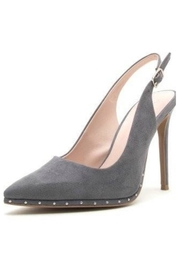 Qupid Grey Suede Heels - Product Mini Image