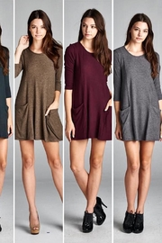 Cherish Grey Sweater Dress - Product Mini Image