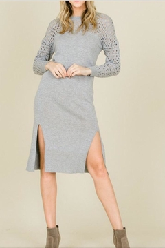 Shoptiques Product: Grey Sweater Dress